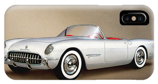 1953 Corvette Classic Vintage Sports Car Automotive Art IPhone Case