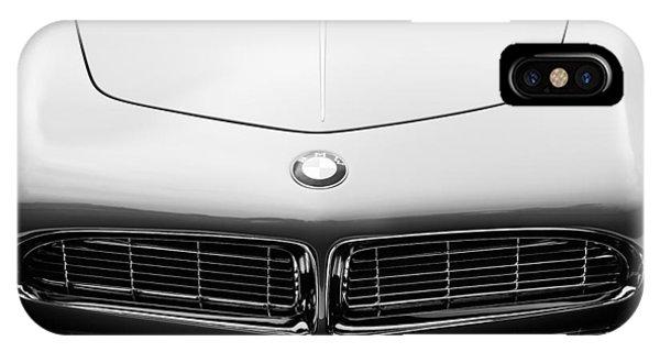 1958 iPhone Case - 1958 Bmw 507 Series II Roadster Hood Emblem by Jill Reger