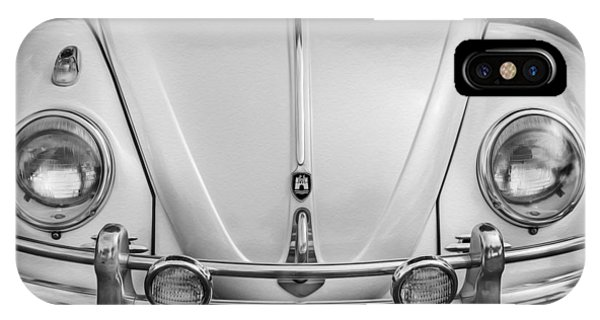 1960 Volkswagen Beetle Vw Bug   Bw IPhone Case
