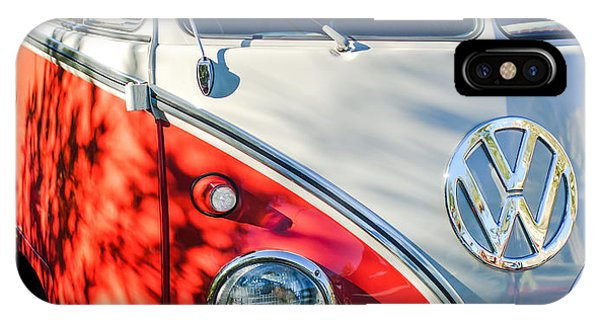 96 Inch Panoramic - 1961 Volkswagen Vw 23-window Deluxe Station Wagon Emblem IPhone Case