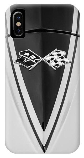 Coupe iPhone Case - 1967 Chevrolet Corvette Coupe Hood Emblem by Jill Reger