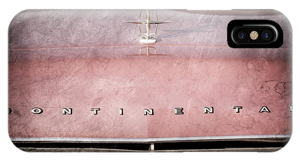 Lincoln Continental iPhone Case - 1967 Lincoln Continental Hood Ornament - Emblem by Jill Reger