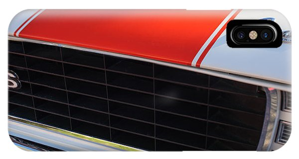 96 Inch Panoramic -1969 Chevrolet Camaro Rs-ss Indy Pace Car Replica Grille - Hood Emblems IPhone Case
