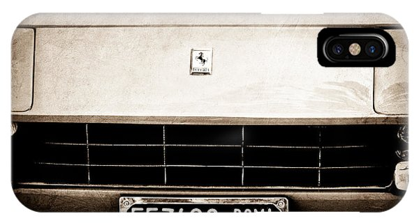 1972 iPhone Case - 1972 Ferrari 365 Gtb -4a Grille Emblem by Jill Reger