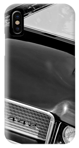 1972 iPhone Case - 1972 Oldsmobile 442 Grille Emblem by Jill Reger