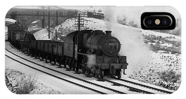 45593 Kholapur Hauling Winter Freight IPhone Case