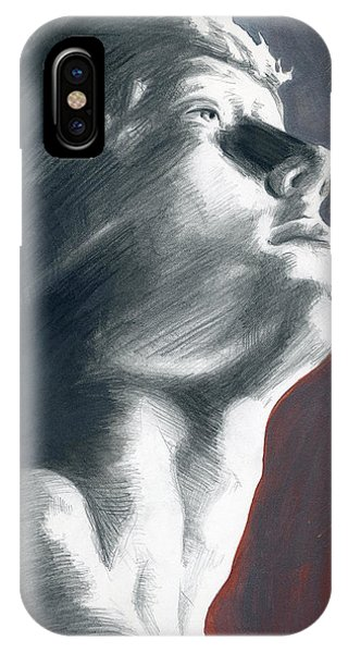 IPhone Case featuring the painting A Boy Named Faith by Rene Capone