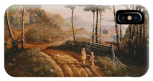 A Country Lane IPhone Case