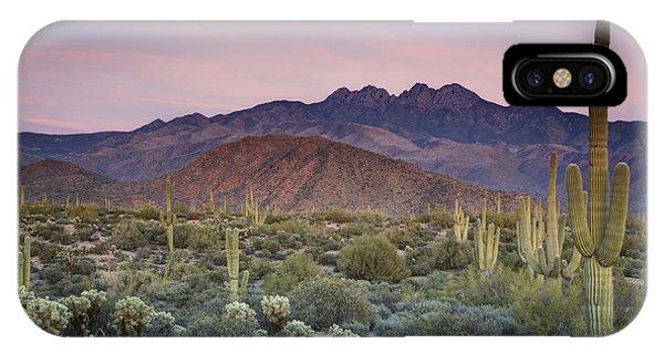 A Desert Sunset  IPhone Case