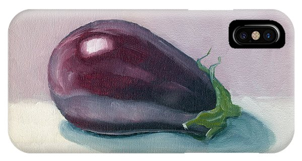 A Is For Aubergine IPhone Case