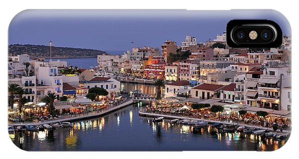 Agios Nikolaos City During Dusk Time IPhone Case