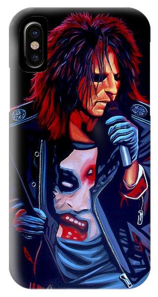 Punk Rock iPhone Case - Alice Cooper  by Paul Meijering