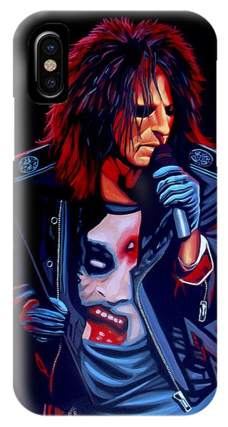 Death iPhone Case - Alice Cooper  by Paul Meijering