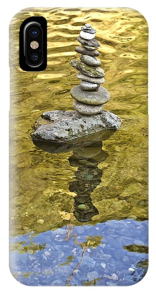 IPhone Case featuring the photograph American River Rock Art by Sherri Meyer