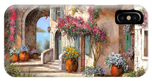 Arched iPhone Case - Archi E Fiori by Guido Borelli