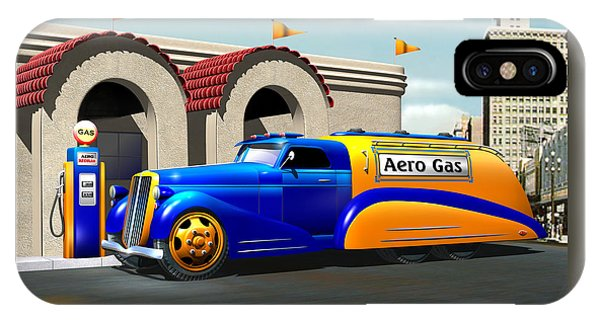 Art Deco Gas Truck IPhone Case