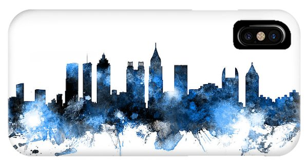 United States iPhone Case - Atlanta Georgia Skyline by Michael Tompsett