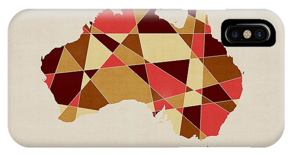 Victoria iPhone Case - Australia Geometric Retro Map by Michael Tompsett