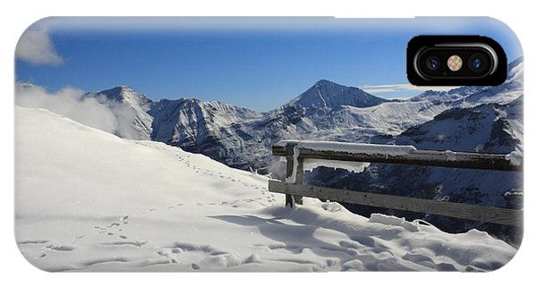 IPhone Case featuring the photograph Austrian Mountains by Susan Leonard