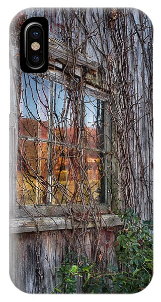 New England Barn iPhone Case - Autumn Reflections by John Vose
