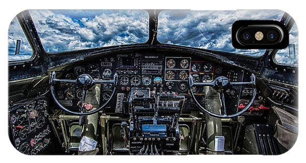 Bomber iPhone Case - B-17 Cockpit by Mike Burgquist
