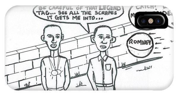 Barack Obama And Usain Bolt Cartoon IPhone Case