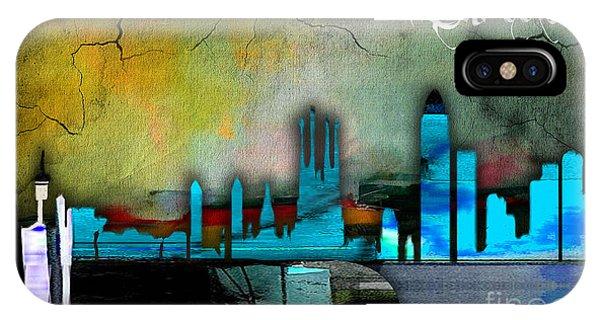 Barcelona iPhone Case - Barcelona Spain Skyline Watercolor by Marvin Blaine