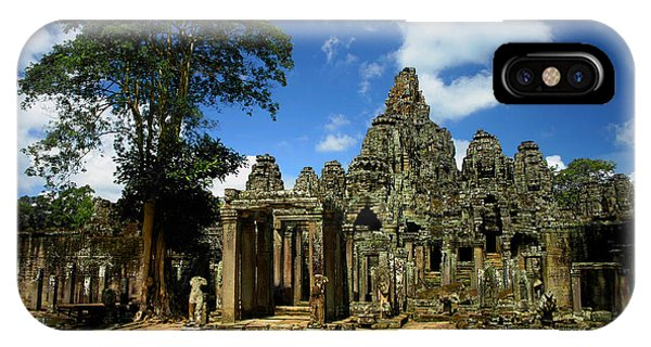 Bayon Temple View From The East IPhone Case