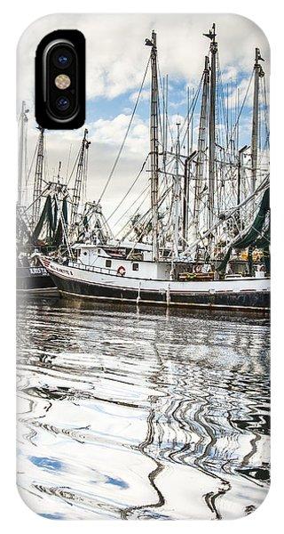 Bayou Labatre' Al Shrimp Boat Reflections IPhone Case