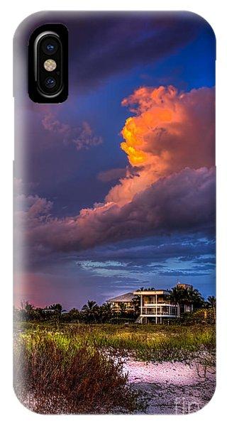 Beach Front Rain IPhone Case