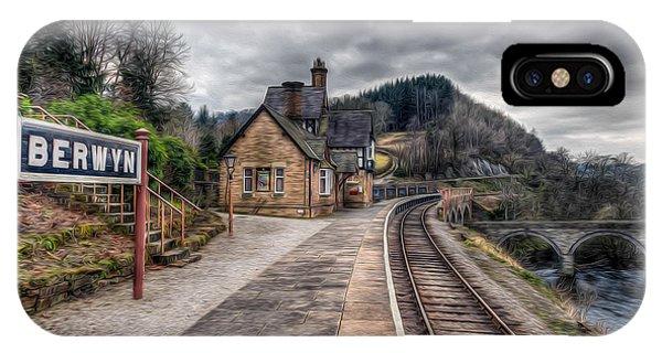 Sleeper iPhone Case - Berwyn Railway Station by Adrian Evans