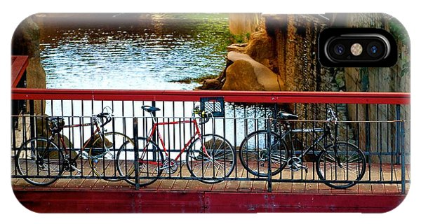 Bikes Over Waller Creek In Austin IPhone Case