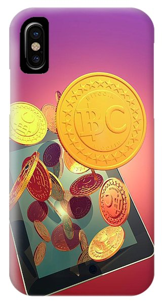 Bitcoins And Digital Tablet IPhone Case
