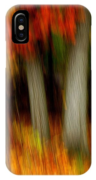 Blazing In The Woods IPhone Case