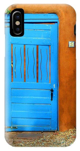 Blue Door In Santa Fe IPhone Case