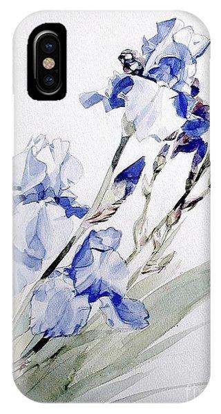 Blue Irises IPhone Case