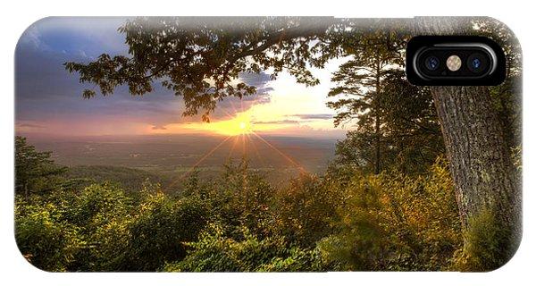 Chilhowee iPhone Case - Blue Ridge Mountain Sunset by Debra and Dave Vanderlaan
