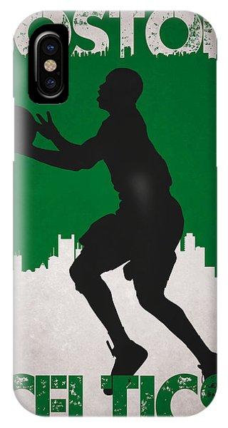Celtics iPhone Case - Boston Celtics by Joe Hamilton