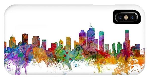 Australia iPhone Case - Brisbane Australia Skyline by Michael Tompsett