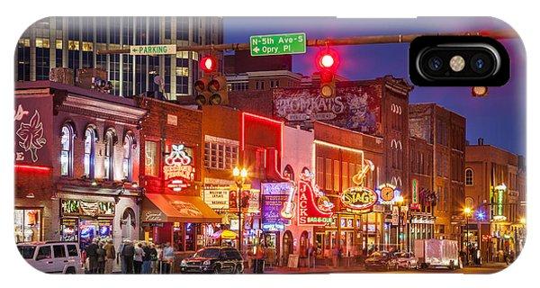 IPhone Case featuring the photograph Broadway Street Nashville by Brian Jannsen