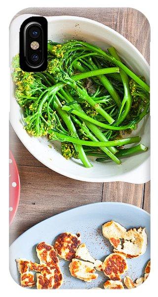 Broccoli iPhone Case - Broccoli Stems by Tom Gowanlock
