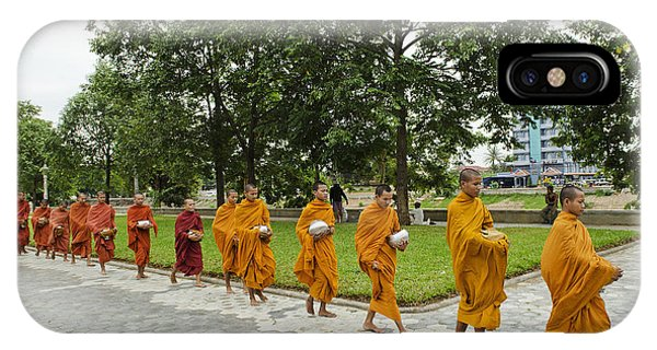 Buddhist Monks In Battambang Cambodia IPhone Case