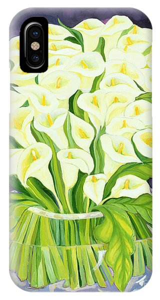 Lily iPhone Case - Calla Lilies by Laila Shawa