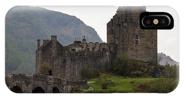 Cartoon - Structure Of The Eilean Donan Castle With A Stone Bridge IPhone Case