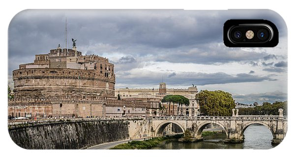 Castle St Angelo In Rome Italy IPhone Case