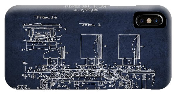 Caterpillar iPhone Case - Caterpillar Drive Chain Patent From 1952 by Aged Pixel