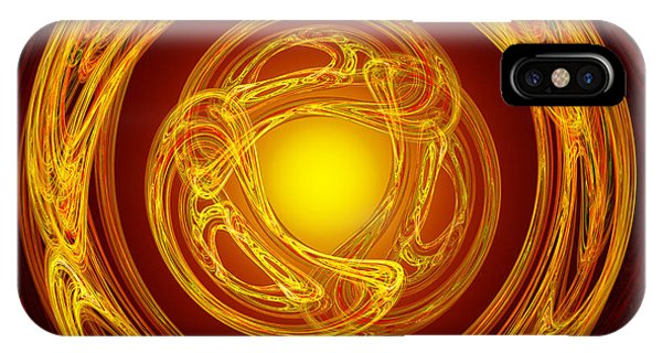 Celtic Abstract On Red IPhone Case