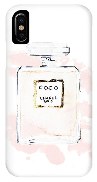 Perfume iPhone Case - Chanel Perfume, Watercolor Fashion Illustration  by Koma Art
