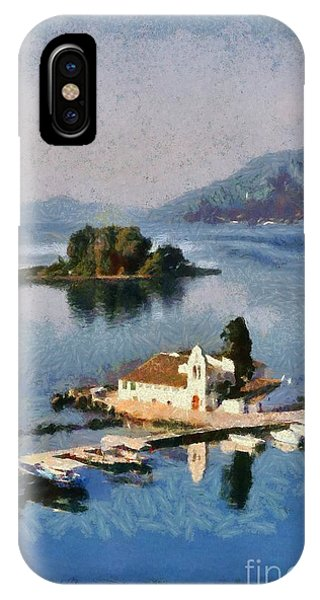 Panagia Vlachernon Monastery In Corfu Island IPhone Case