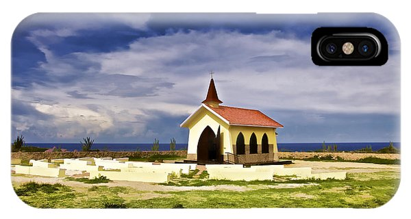Chapel By The Sea IPhone Case